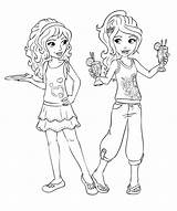 Coloring Friends Pages Barbie sketch template