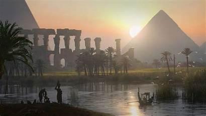 Egypt Creed Origins Landscape Pyramid River Assassin