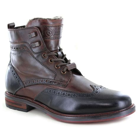 Leather shoes made from nubuck leather have a high natural wax and fat content. Bugatti 311-37752-1111 Mens Premium Leather Boots - Dark Grey/Brown