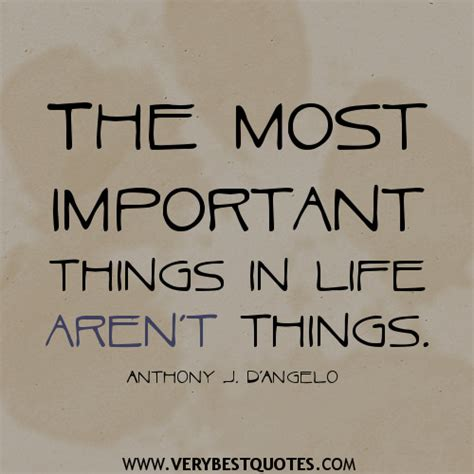 Important Things Life Quotes
