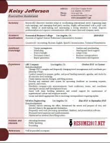 executive assistant resume sles 2017