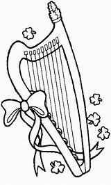 Pages Coloring St Patrick Lyre Printable Print Patricks Holiday Harp Sheets Sheet Colouring Season Activity Printables sketch template