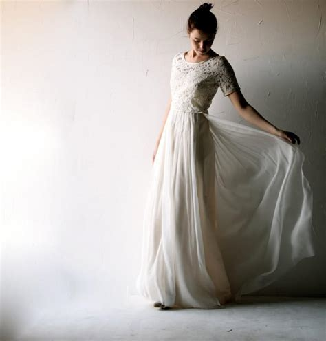 lace wedding dress modest wedding dress bohemian wedding