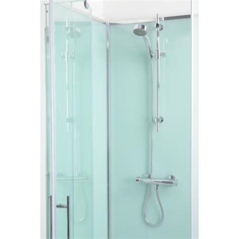 quatro shower cabin  aqua white  panels