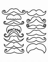 Mustache Template Outline Clipart Printable Moustache Mustaches Coloring Pages Cliparts Cupcake Pdf Photobooth Lorax Drawing Props Templates Prop Types Party sketch template