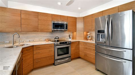Natural Bamboo Kitchen Cabinets  Omega Cabinetry