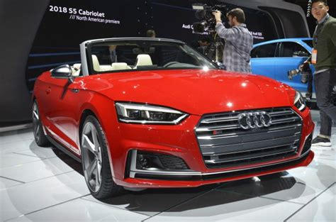 2018 Audi A5 And S5 Cabriolet Make Us Debut In Detroit