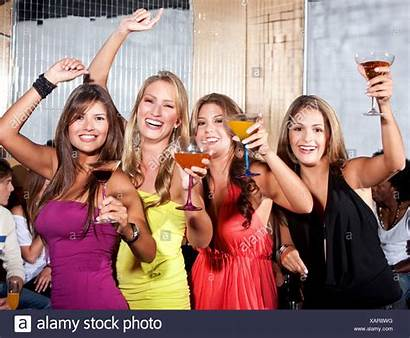 Bar Stools Sitting Cocktails Drinking