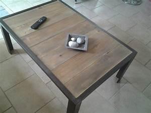 Table Fer Et Bois : table basse fer et bois tables magriff 39 fait maison meubles pinterest table basse ~ Teatrodelosmanantiales.com Idées de Décoration