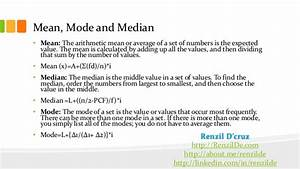 Formula Of Statistics Mean Mode Median. Lesupercoin ...