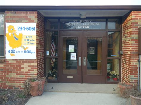st henry creative learning center directions 232   St Herny CLC door