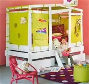 Cabane Pour Enfant Pas Cher : lit cabane tissu ~ Melissatoandfro.com Idées de Décoration