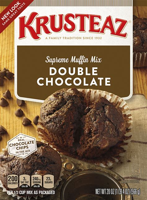 double chocolate muffin mixes krusteaz
