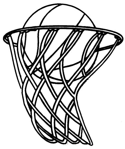 basketball net clipart basketball coloring pages to and print for free