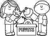 Puppet Coloring Pages Puppets Playing Box Marionette Theater Printable Getcolorings Getdrawings Wecoloringpage Fresh sketch template