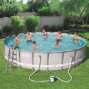 Pool Für Den Garten : pool schwimmbecken bestway 56705 rund oberirdisch f r den garten ~ Watch28wear.com Haus und Dekorationen