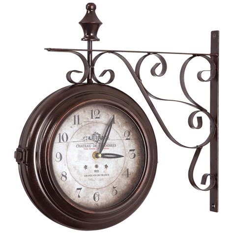 yosemite home decor 16 in sided iron wall clock in black frame clka1b359 the home depot