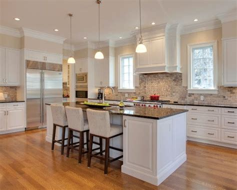 White Kitchen With Brown Granite Countertops  Google