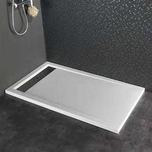 Pose Receveur Extra Plat Sur Plancher Bois : receveur extra plat poser design 80x140 blanc achat ~ Dailycaller-alerts.com Idées de Décoration