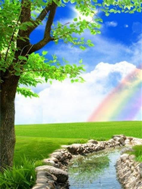 3d Wallpaper Nature For Mobile by Free Mobile Phone Wallpaper Rainbow Nature 3d