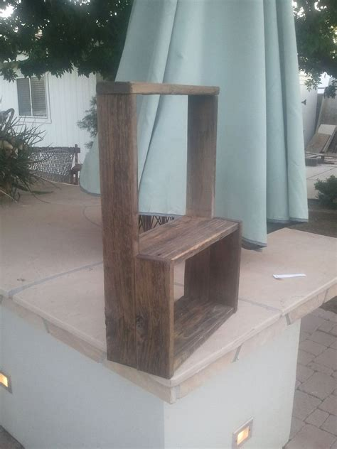 custom simple wooden wall shelf  treehousewoodworks