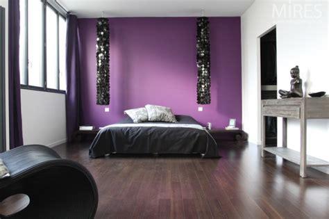 chambre ambiance chambre violet taupe design de maison