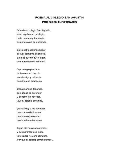 poema al colegio san agustin