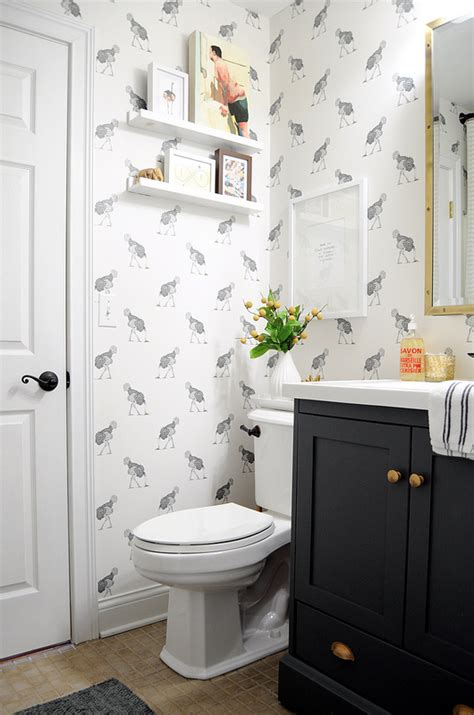 small bathroom wall decor ideas wallpaper for the powder room the inspired room