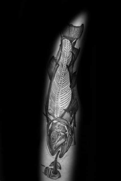 50 Fish Skeleton Tattoo Designs For Men - X-Ray Ink Ideas