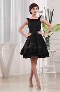black simple a line square sleeveless zip up knee length With robe de cocktail chanel