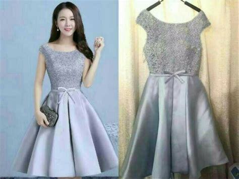 jual dress silver joanhrz dress wanita warna silver