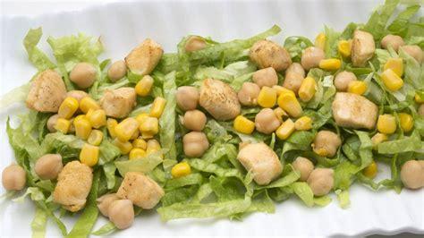 receta de ensalada de garbanzos pollo  maiz karlos