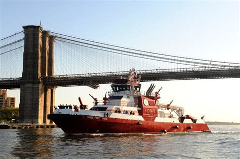 Nyc Fireboat Firefighter by Fdny Fireboat Firetruck Firefighter Captain Water