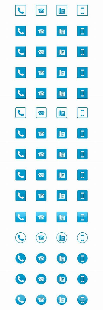 Phone Icon Psd Megapack Web Pack Examples