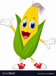 Cute corn cartoon character Royalty Free Vector Image