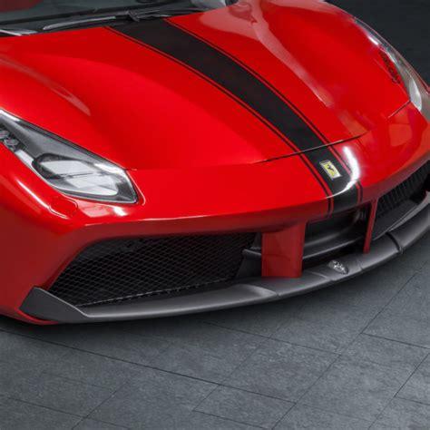 The 488 pista also gets a carbon fibre spoiler, a carbon fibre rear bumper and diffuser. Ferrari 488 GTB & GTS Carbon Front Spoiler - Official CAPRISTO Exhaust Website