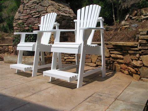 high adirondack chairs yard outside