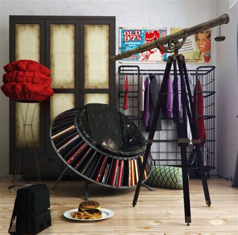 Colorful And Funky Interiors Visualized by Funky Decor 600x593 Jpg