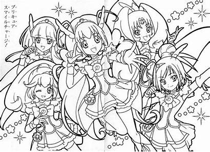 Coloring Smile Anime Glitter Force Precure Cure