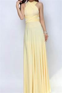 Light Yellow Long Convertible Dress Bridesmaid Dress [lg ...