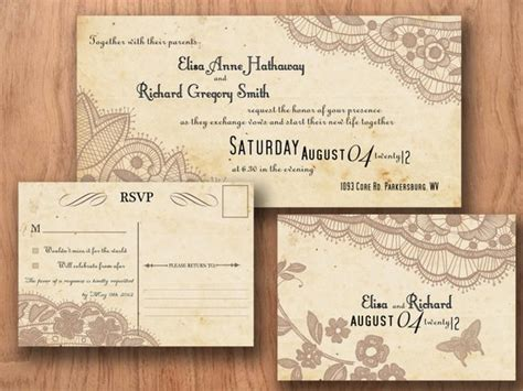 Printable Vintage Wedding Invitations By Designedwithamore