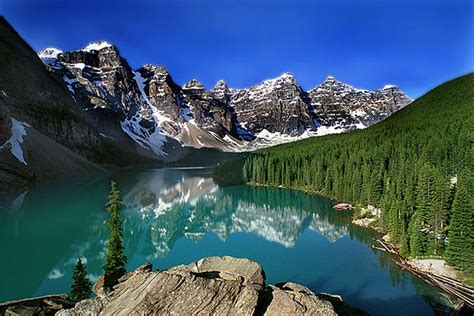 Moraine Lake In Banff National Park Alberta Canada