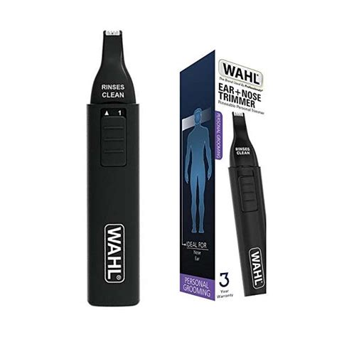 wahl cordless battery operated nose ear hair trimmer