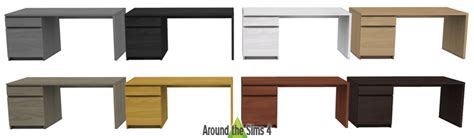 bureau ikea malm around the sims 4 custom content objects