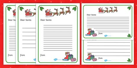 letter  santa template ks resource