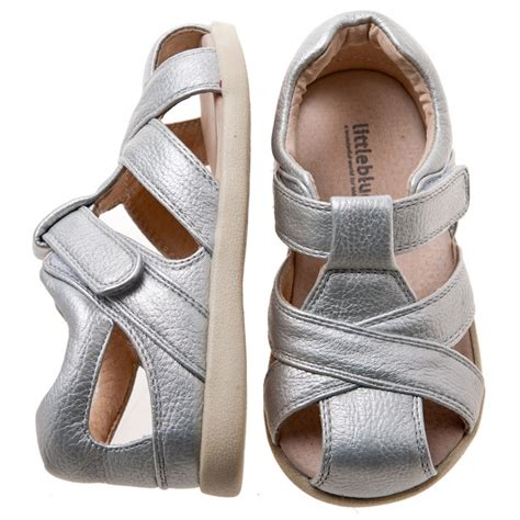 new leather toddler silver sandal shoes blue 379 | 698129485 o