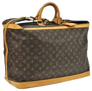 louis vuitton cruiser  travel hand monogram canvas leather brown travel bag  sale