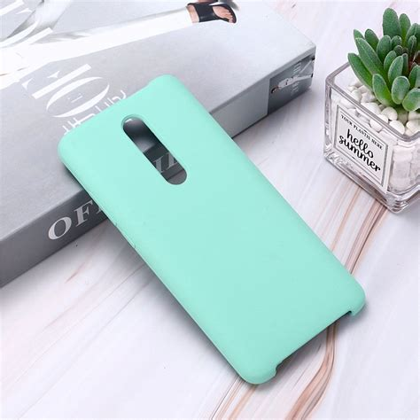 Xiaomi redmi 9t android smartphone. Solid Color Liquid Silicone Dropproof Protective Case for ...