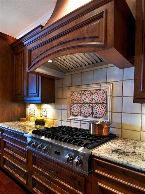 patterned tile backsplash  traditional kitchen hgtv
