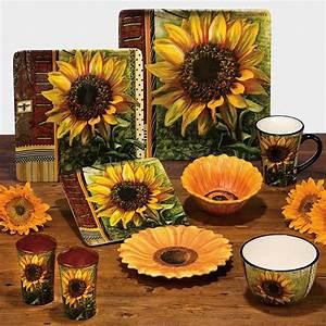 Ceramic fashion rustic american sunflower decoration plate